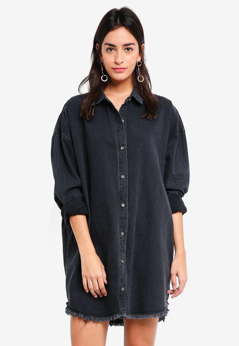 7a199d2362 Black Denim Shirt MISSGUIDED Oversized Dress wfB6qH-klausecares.com