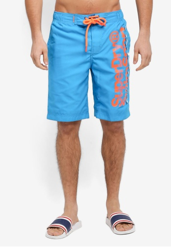 Superdry blue SUPERDRY BOARDSHORT F54F8US7218BADGS_1
