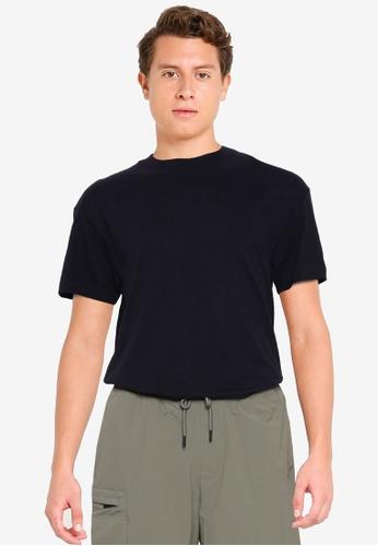 Abercrombie & Fitch black Essential Crew T-Shirt F96F2AA0BCBD03GS_1