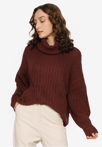 JEANASIS brown Turtleneck Pullover 96BB4AA450CC5FGS_1