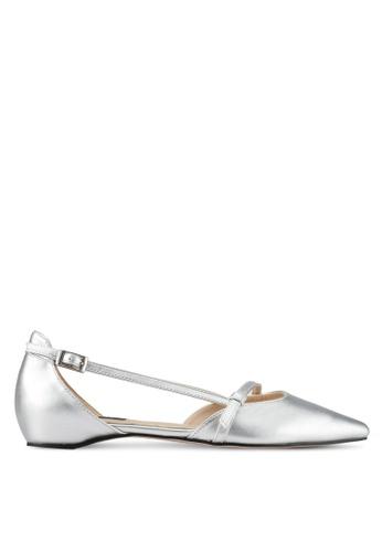 ZALORA silver Faux Leather Ballet Flats 1E2E7SH1C5C517GS_1