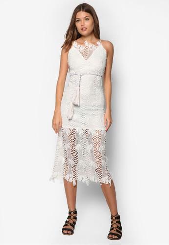 Teesprit服飾resa 蕾絲及膝洋裝, 服飾, 服飾
