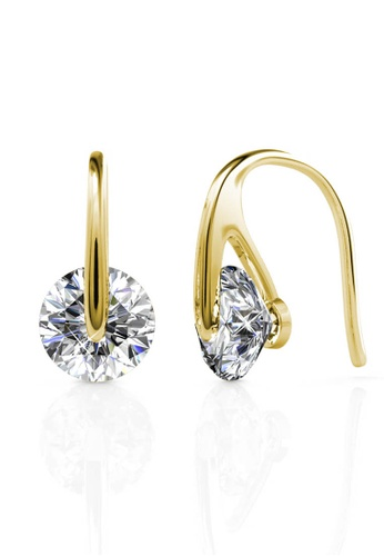 Her Jewellery gold Classy Earrings (Yellow Gold) - Made with premium grade crystals from Austria HE210AC0FQ5DSG_1