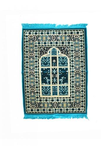 KAMDAR green and blue Prayer Rug Normal Spiegel Soft 1D68AAA890727AGS_1