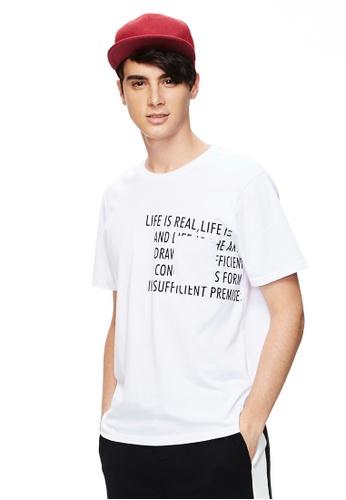 Life8 白色 Casual U-Neck Tee-10125-White 7E6A2AAABB5408GS_1