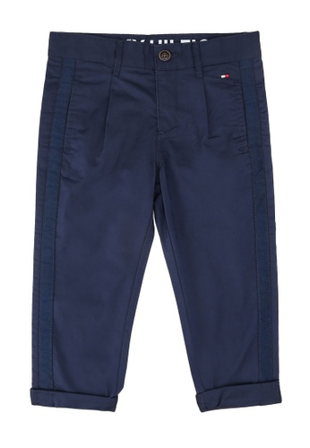 Tommy Hilfiger navy Pleated Tape Chino Pants 93E6FKA80DBEF5GS_1
