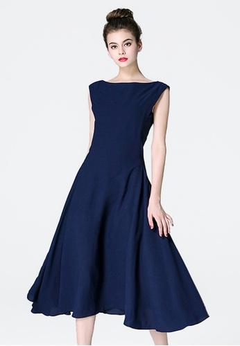 Sunnydaysweety blue Simple Blue Polyester Vest Work Dress RA082308 SU219AA0HAJ0SG_1