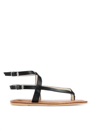 Something Borrowed black Ankle Strap Sandals A72F5SH991A59BGS_1