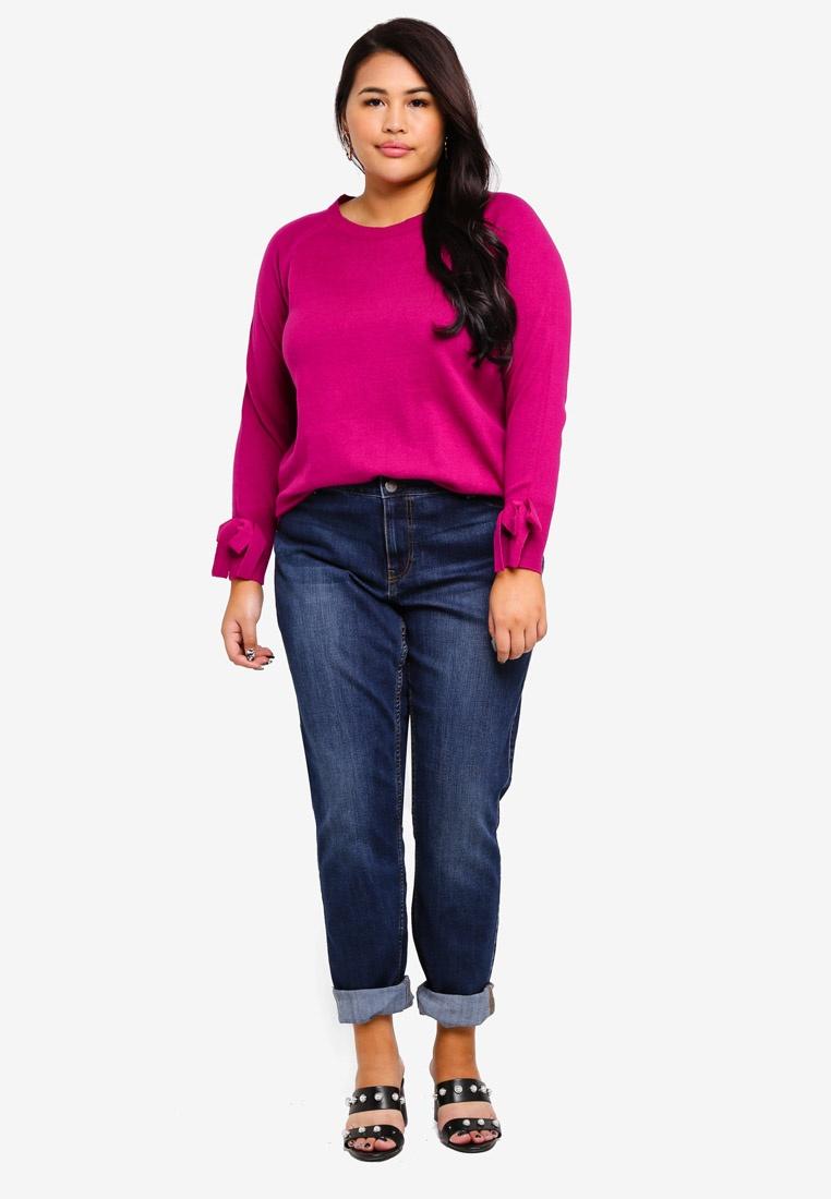 Size Plus Pullover Junarose neck Wild Aster O Lika Knit ...