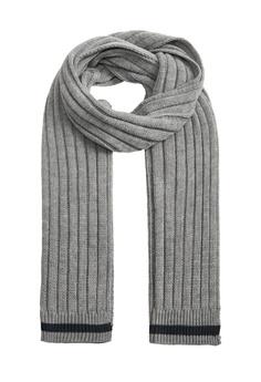 fb5744aa5 MANGO Man grey Contrasting Stripes Knit Scarf DE07BAC05827A3GS_1