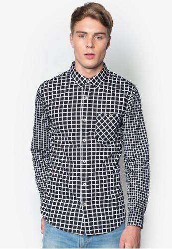 格紋長袖襯衫, 服esprit retail飾, 襯衫