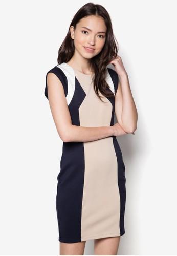 色塊修身連身裙,esprit sg 服飾, 洋裝