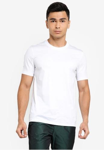 ck Calvin Klein white PIMA JERSEY CREW TOP 3F465AA13F6E0DGS_1