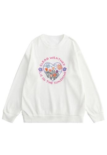 Twenty Eight Shoes Oversize Love Embroidery Hoodies HH1601 472CCAA5195E35GS_1