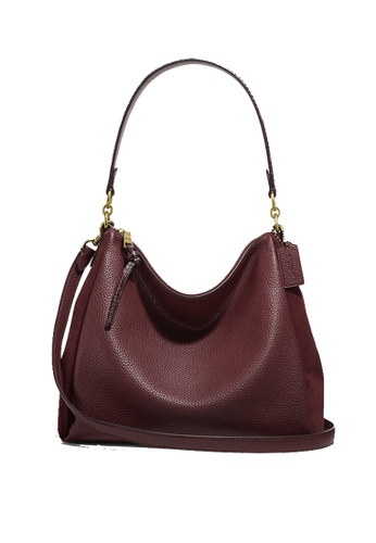 Coach red Coach Shay Shoulder Bag With Snakeskin Detail 4611 Wine 21F70AC82D2DC0GS_1
