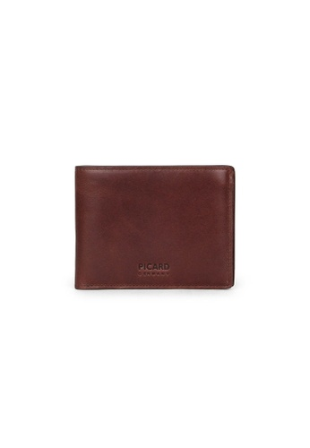 Picard brown Picard Teuer Slim Bifold Wallet with Card Window 82305AC927F543GS_1