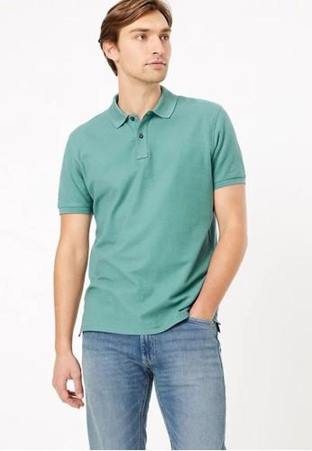 MARKS & SPENCER multi Pure Cotton Polo Shirt B61BAAA03E99ECGS_1