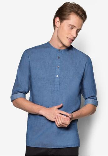 簡約亨利長袖衫、 服飾、 襯衫ZALORA簡約亨利長袖衫最新折價