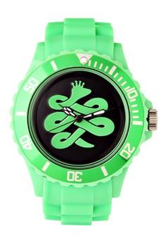 Baem Korea Quartz Analog Rubber Strap Active Style Wrist Watch