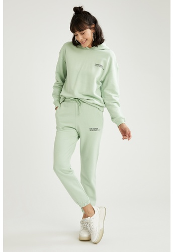 DeFacto green Woman Athleisure Knitted Trouser 4513FAA646C6A0GS_1