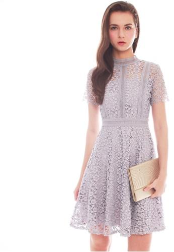 JOVET grey Lace Crochet Dress 46DDAAA817389AGS_1