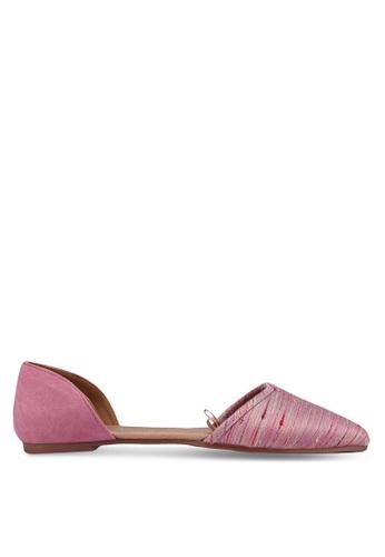 Rubi pink Bobbi Cut Out Point Flats 292BFSH58FB030GS_1