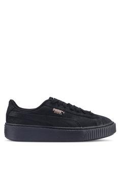 956c45c661e Puma black Sportstyle Prime Suede Platform Artica Women s Shoes  1805BSHD19A002GS 1