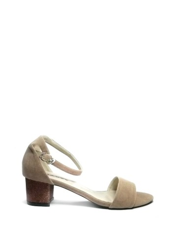 Beauty Shoes brown Beauty Shoes 1225 Heels Beige 7789BSH02A2BBCGS_1