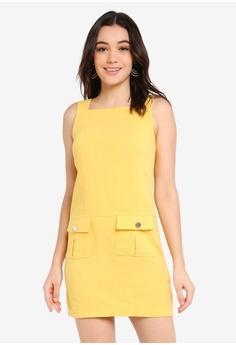 45e2f2398e96 Dorothy Perkins yellow Yellow Shift Dress A442DAA638EC82GS_1