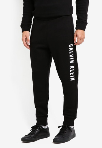 Calvin Klein black CKP Logo Sweat Pants - Calvin Klein Performance DE367AA8C8F903GS_1