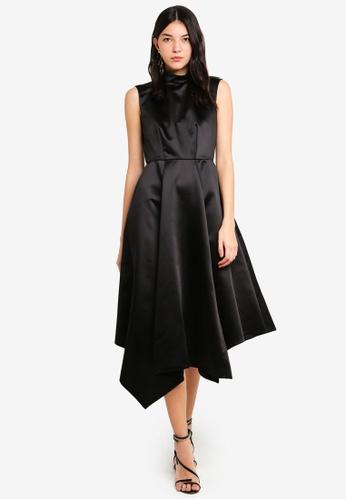 55293419aaf Closet Black Asymmetric Dress On Zalora Philippines