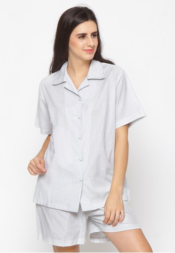 Impression grey Pajamas Set 9105 0A224AAE5461D1GS_1