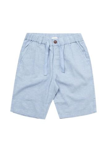 Giordano blue Junior Linen Cotton Short F52DCKA1CA0F5AGS_1