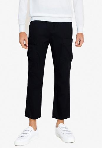 ZALORA BASICS black Cargo Pants 5A5FBAA1F8D5C4GS_1
