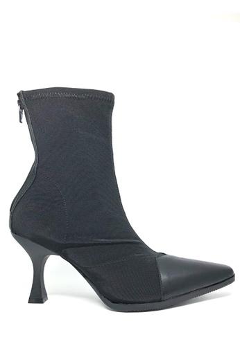 Twenty Eight Shoes black Square Toe Polyurethane Boots 027 81BC0SH38C5539GS_1