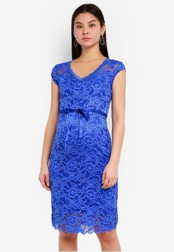 Mama.licious blue MLNEWMIVANA CAP JERSEY DRESS CE8A0AAB8D23C7GS_1