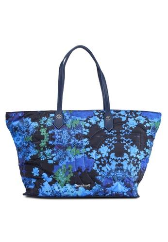 Desigual blue Floral Print Tote Bag 10C0BACEF9A6F9GS_1