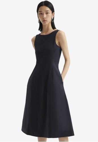 COS blue Flared Sleeveless Dress 57A1BAA5FFE913GS_1