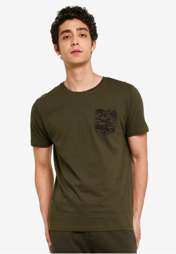 Brave Soul 多色 胸前口袋T恤 9B71EAAD63A111GS_1