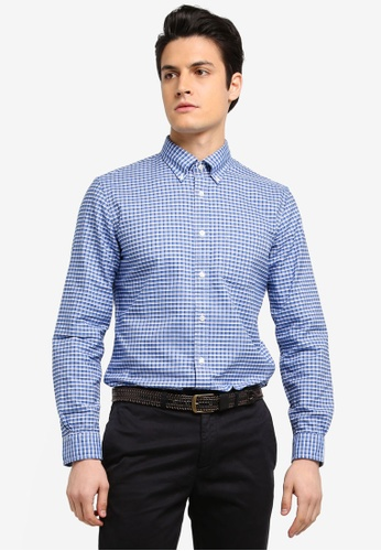 Brooks Brothers 藍色 格紋休閒襯衫 F36A8AAE167B6BGS_1