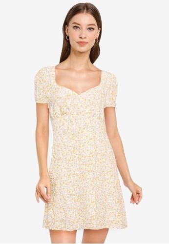 Cotton On white Woven Essential Tie Back Mini Tea Dress EDAB5AAAF1E4A5GS_1