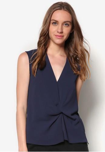 扭結無袖上zalora時尚購物網評價衣, 服飾, 上衣