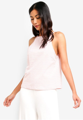 ZALORA BASICS pink and multi Basic High Neck Swing Top 18326AADC765E5GS_1