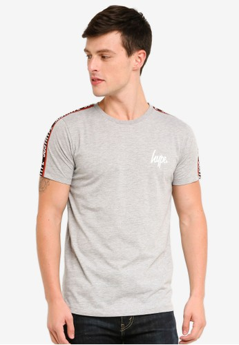 Just Hype grey Taylor Tape T-Shirts E2F1EAA6C9C598GS_1