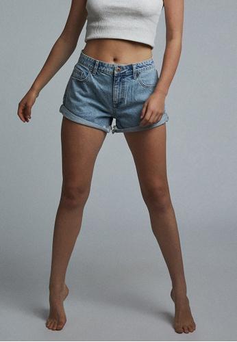 Cotton On blue Mid Relaxed Denim Shorts 2210DAA864019DGS_1
