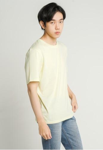 ALOWALO yellow Alowalo - Men Melange Basic T-Shirt Crew Neck - Sunny Lime 49313AAF635359GS_1