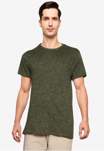 LC Waikiki green Crew Neck Short Sleeves T-shirt 5D55CAA7C8180EGS_1