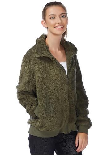 London Rag green Army Green Cozy Furry Winter Jacket 1CEA0AA46A40CFGS_1