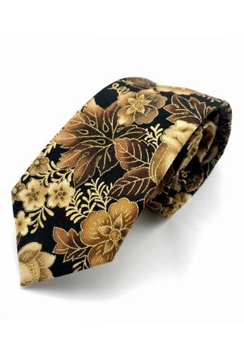 Caveman gold Golden Floral Necktie 9C9D8AC63887C4GS_1