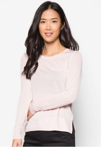 基本寬素色長袖衫, 服飾, 毛衣&esprit女裝 針織外套